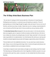 Art Gallery Business Plan Sample Plans Sphere With The Word On - Art gallery business plan template